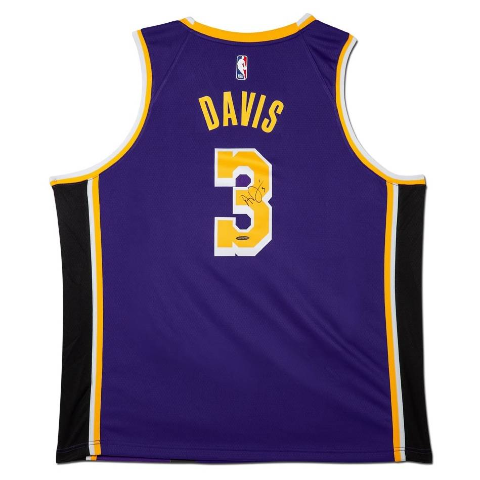mainAnthony Davis Signed Los Angeles Lakers Purple Jersey0