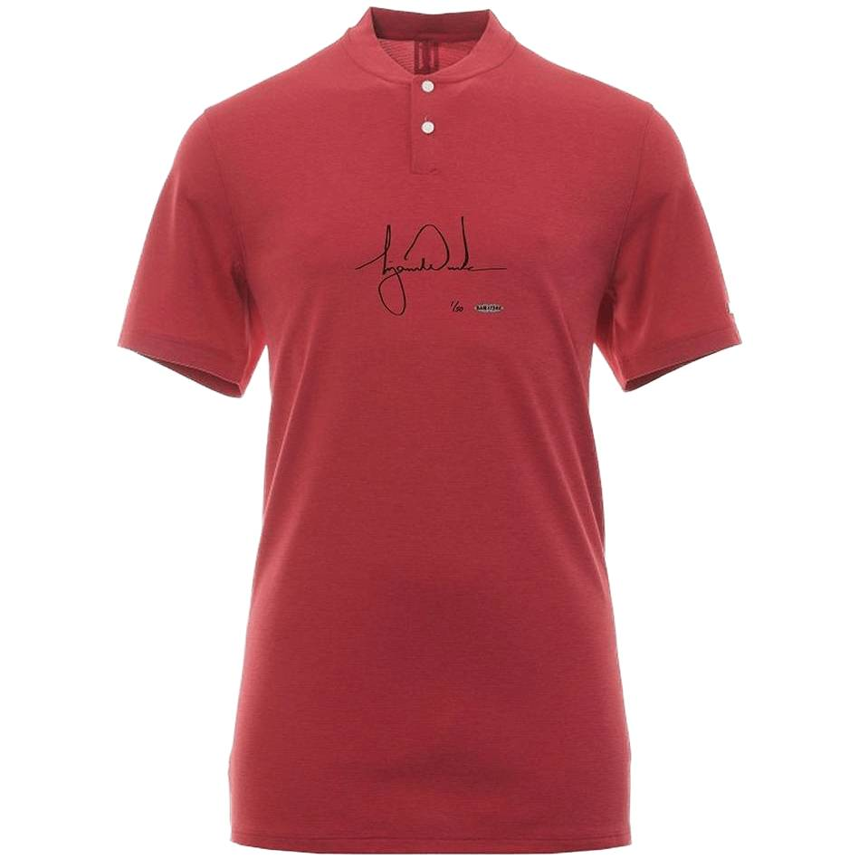 mainTiger Woods Signed Nike Red Polo0