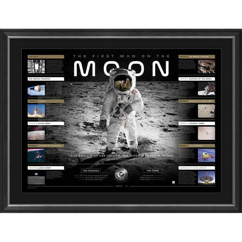 main'The First Man on the Moon' Moon Landing Lithograph0
