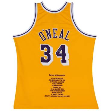 Shaquille O'Neal Signed LA Lakers Jersey