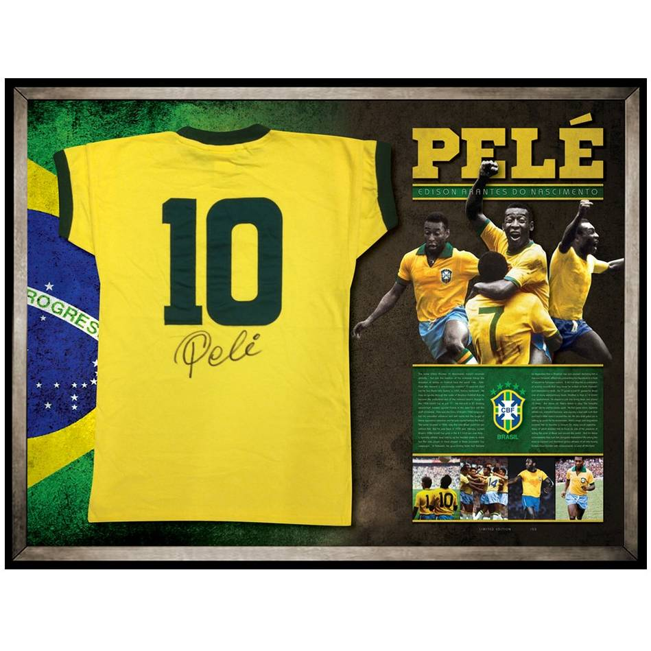 mainPele Signed Brazil Shirt0