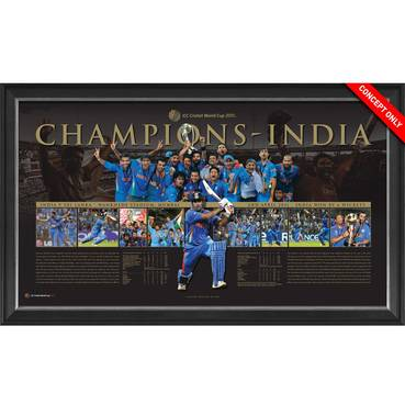 INDIA 2011 CRICKET WORLD CUP CHAMPIONS FRAMED PRINT