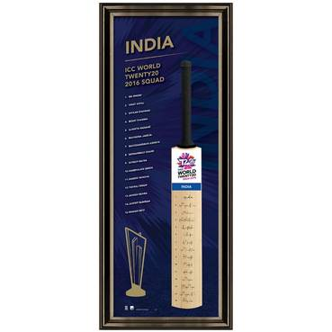 INDIA TEAM SIGNED BAT