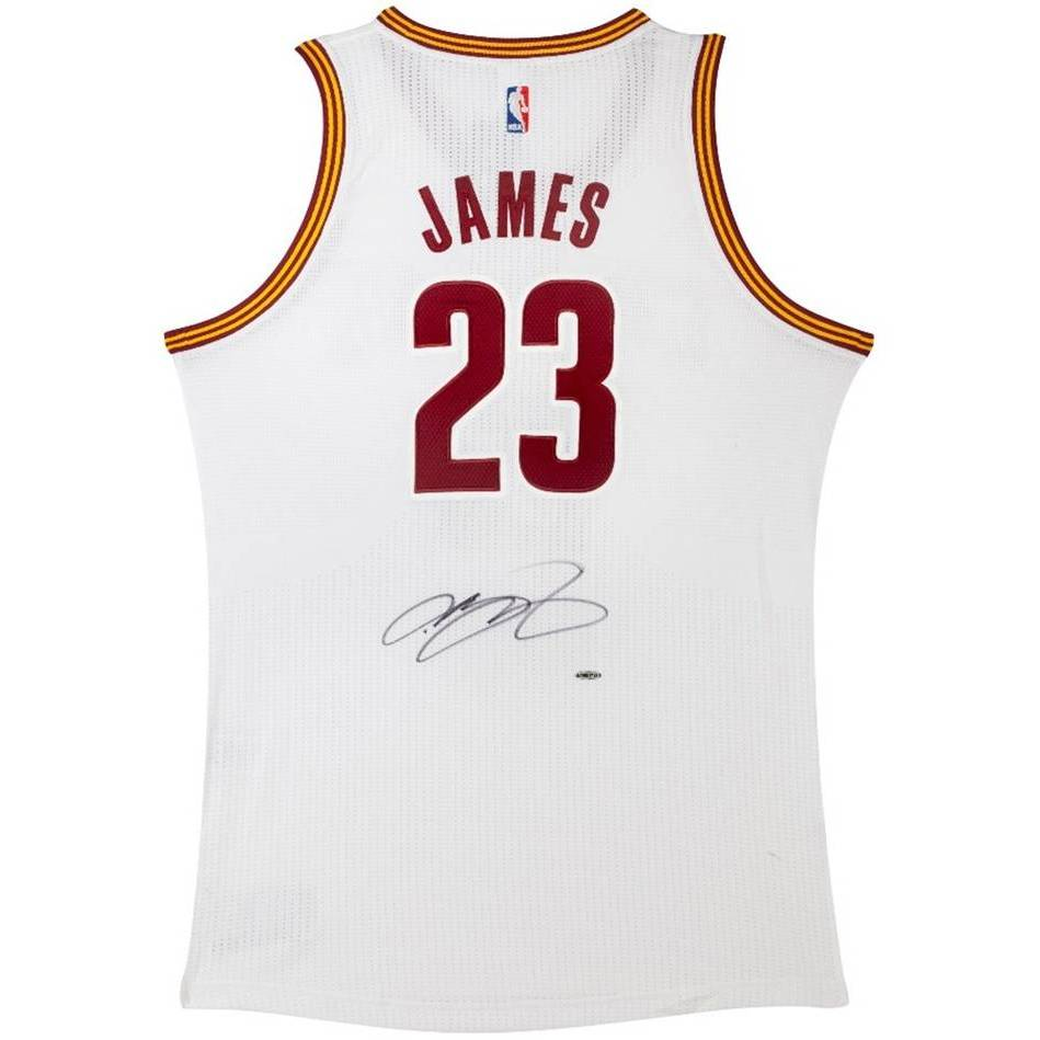mainLEBRON JAMES SIGNED CLEVELAND CAVALIERS ADIDAS HOME JERSEY0