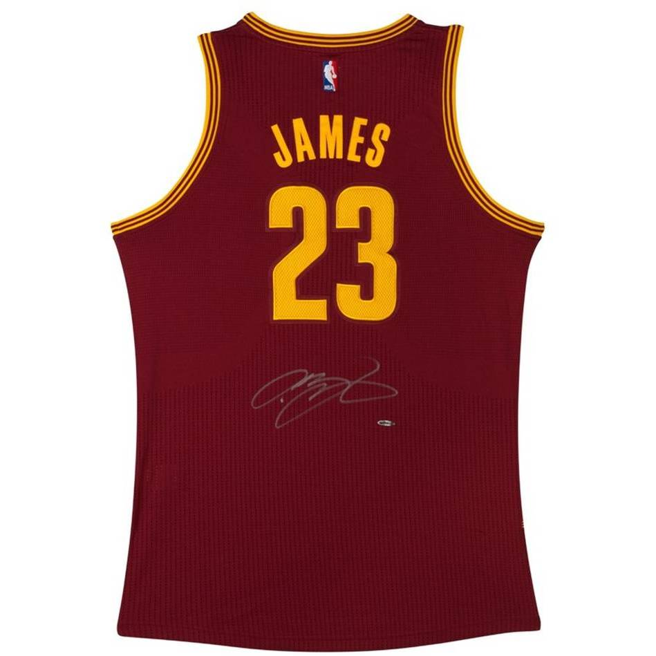 mainLEBRON JAMES SIGNED CLEVELAND CAVALIERS ADIDAS AWAY JERSEY0