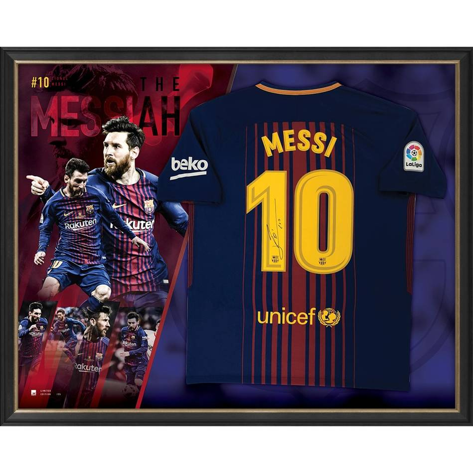 mainLionel Messi Signed Barcelona Jersey0