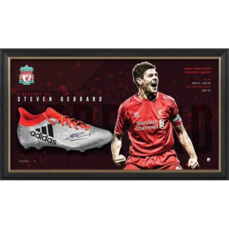 mainSteven Gerrard Signed Boot Display0