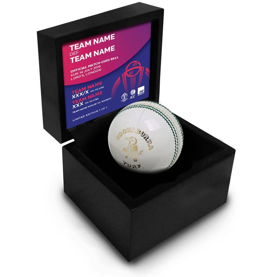 mainEngland vs New Zealand – ICC 2019 Cricket World Cup Match-Used Ball0
