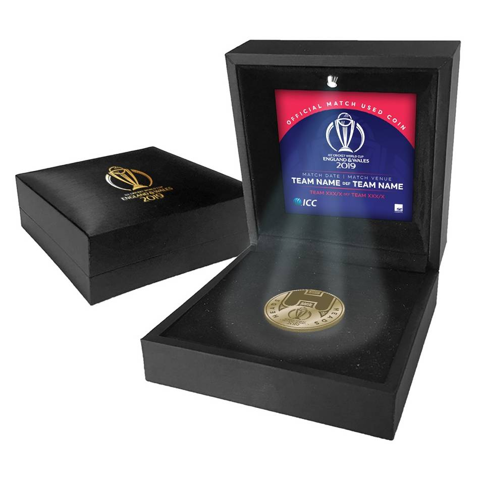 mainEngland vs New Zealand – ICC 2019 Cricket World Cup Match-Used Coin Toss Coin0