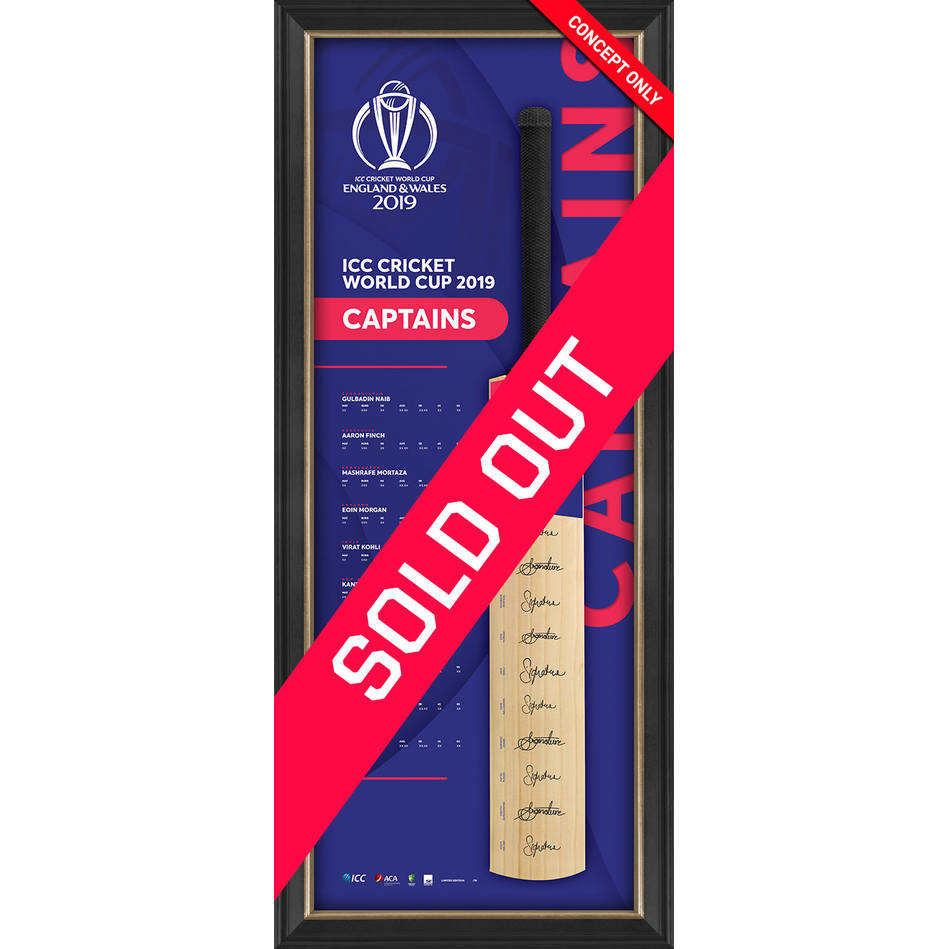 mainICC CWC 2019 Signed Captains Bat0
