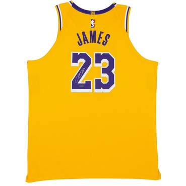 LeBron James Signed Los Angeles Lakers Gold Jersey