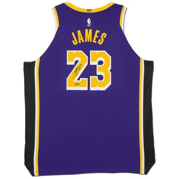 LeBron James Signed Los Angeles Lakers Purple Jersey