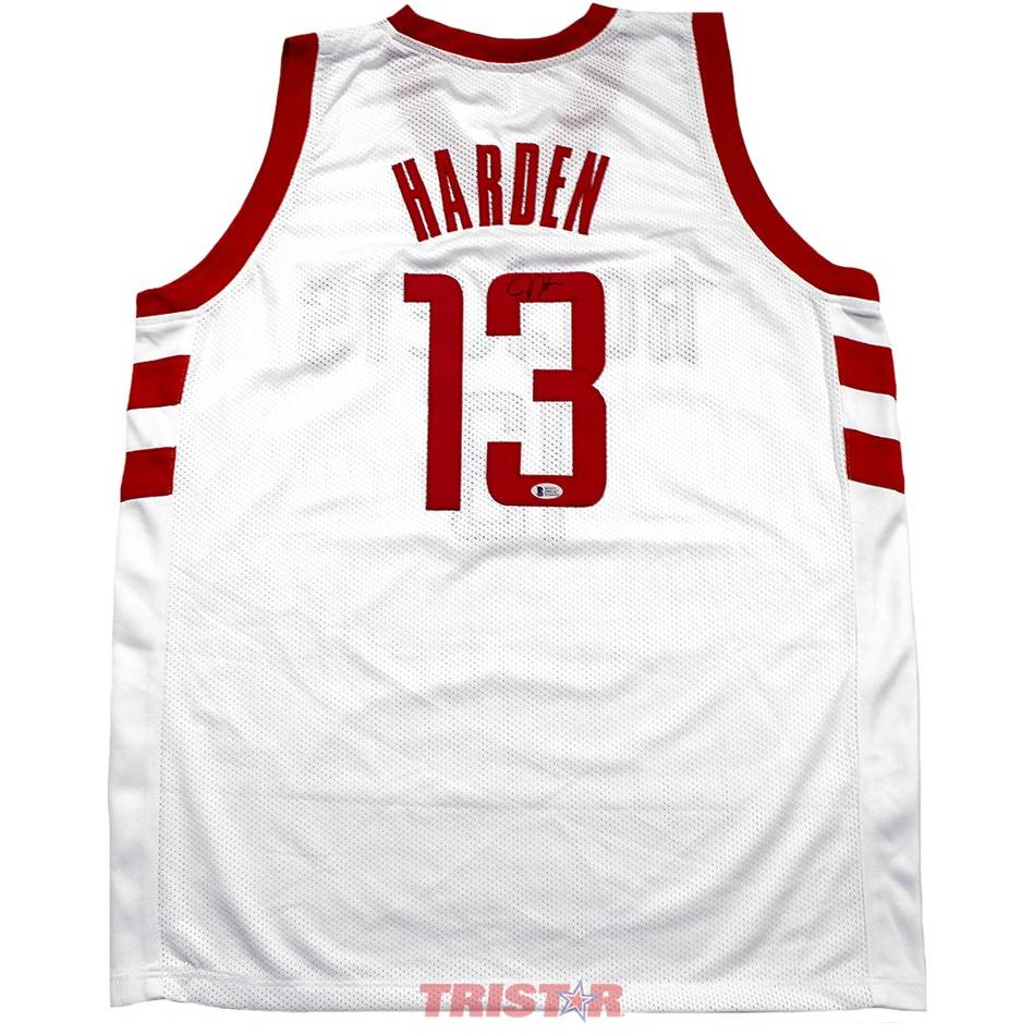 mainJames Harden Signed Houston Rockets Custom Jersey0