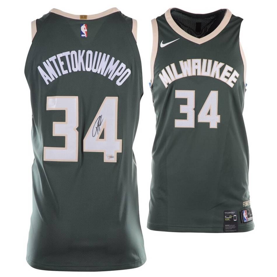 mainGiannis Antetokounmpo Signed Milwaukee Bucks Jersey0